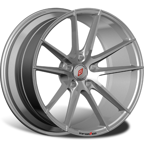 R17 5x108 7,5J ET42 D63,3 INFORGED IFG25 Silver лого IFG (S+RED, 64 мм)